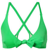 Solid & Striped The Fiona Knotted Bikini Top - Green