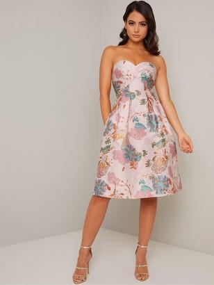 Chi Chi London Maida Dress - Mink