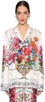 Dolce & Gabbana Bouquet Printed Silk Twill Shirt