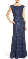 Xscape Evenings Petite Women's Embroidered Lace Mermaid Gown