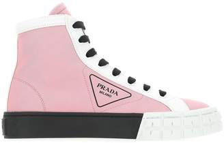 Prada Logo High-Top Sneakers