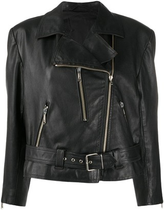A.N.G.E.L.O. Vintage Cult 1990s Belted Leather Biker Jacket