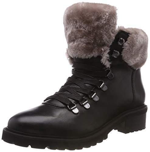 85a53725e73 Footwear Women's Tree Ankle Boot Black Leather 017, 38 EU