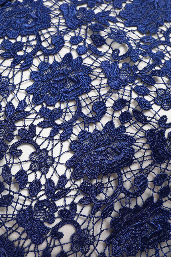 Thumbnail for your product : Catherine Deane Jeanne Fluted Guipure Lace Mini Dress