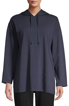 Eileen Fisher Long Hooded Bracelet-Sleeve Box Top