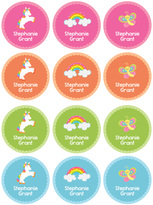 Spark & Spark Rainbow World Waterproof Personalized Labels - Set of 48