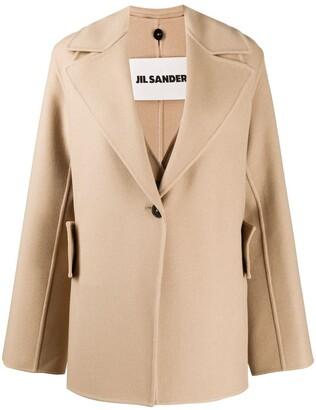 Jil Sander Norris layered cashmere coat