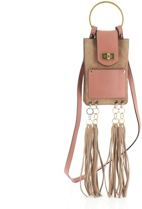 Chloé Jane Crossbody Bag Leather and Suede Mini