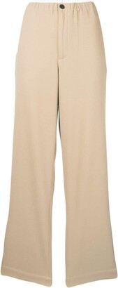 Ami Paris Elasticated Waistband Wide Fit Trousers