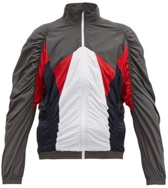 Martine Rose Ruched Shell Track Jacket - Mens - Grey