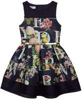 Ted Baker Girls' Navy Floral Print Scuba Dress