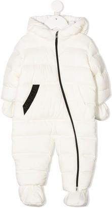 Moncler Enfant Logo Band Padded Snowsuit