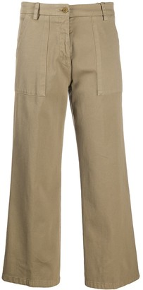 Etro Wide Leg Flap Pocket Trousers