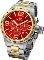 TW Steel CB73 Men's Canteen Dial Two Tone Yellow Gold Plated Steel Bracelet Chronograph Watch