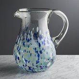 Crate & Barrel Rue Blue Pitcher