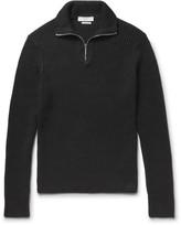 Sandro Ribbed Cotton Half-Zip Sweater