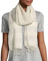Eileen Fisher Striped Organic Cotton/Silk Wrap