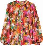 Sunset printed devoré blouse