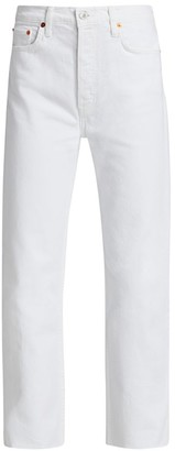 RE/DONE High-Rise Comfort Stretch Ankle Stovepipe Jeans