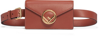 Fendi Logo Leather Belt Bag