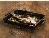 Lava ECO 10-1/2 in. x 15-1/2 in. Enameled Cast Iron Grill Pan in Slate Black