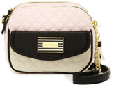 Betsey Johnson Diamond Quilt Double Zip Camera Crossbody