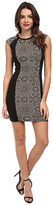 ABS by Allen Schwartz Jacquard Knit Bodycon w/ Contrast Panels