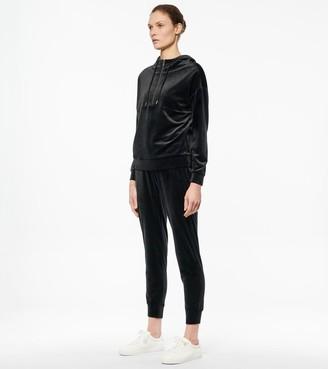 Mny Performance Luxe Velvet Quarter Zip Hooded Pullover
