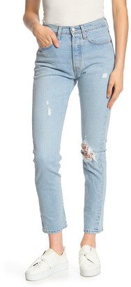 Levi's 501 Distressed Skinny Jeans