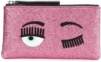 Chiara Ferragni Flirting glittery wallet
