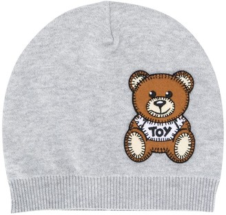 MOSCHINO BAMBINO Teddy Bear patch beanie
