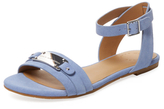 Marc by Marc Jacobs Flat Leather Logo Sandal