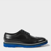Paul Smith Men's Navy Leather 'Grand' Brogues With Tonal Soles