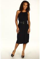 MICHAEL Michael Kors MJ Snake Chain Halter Dress (Black) - Apparel