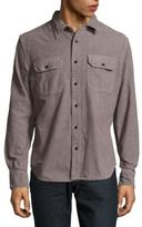Jean Shop Solid Two Chest-Pocket Shirt