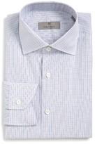 Canali Men's Regular Fit Plaid Dress Shirt