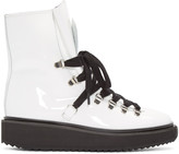 Kenzo White Patent Ankle Boots