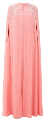 Givenchy Embellished Silk-georgette Maxi-length Cape - Womens - Pink