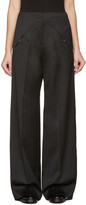 Esteban Cortazar Black Straight-leg Trousers