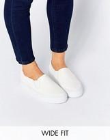 Asos DULCIE Wide Fit Slip On Sneakers