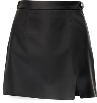 ATTICO Soft Leather Mini Skirt