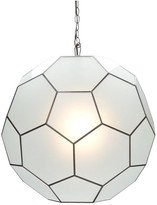 Worlds Away Frosted Glass Knox Pendant, Large