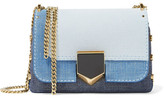 Jimmy Choo Lockett Petite Textured-leather Shoulder Bag - Indigo