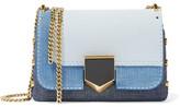 Jimmy Choo Lockett Petite Textured-leather Shoulder Bag - Indigo
