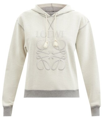 Loewe Anagram-embroidered Cotton-jersey Sweatshirt - Grey