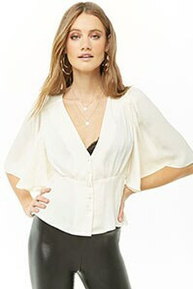 Forever 21 Satin High-Low Top