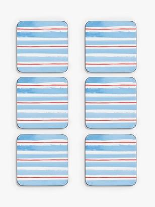 John Lewis & Partners Cork-Backed Coastal Coasters, Set of 6, Multi