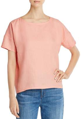 Eileen Fisher Organic Linen Boxy Top