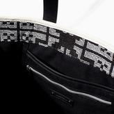 Zara Printed Fabric Shopper