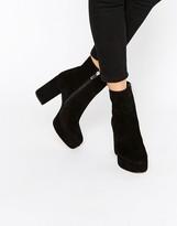 Asos ENTAZ Suede Platform Ankle Boots
